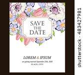 vintage delicate invitation... | Shutterstock .eps vector #483427981