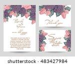 vintage delicate invitation... | Shutterstock .eps vector #483427984
