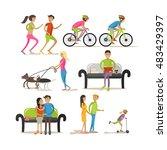 vector set of cartoon...   Shutterstock .eps vector #483429397