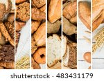 collage of bakery  food close... | Shutterstock . vector #483431179