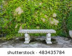 garden bench made of stucco... | Shutterstock . vector #483435784