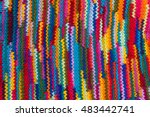 Striped Colorful Wool Texture...