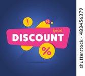 special discount advertisement... | Shutterstock . vector #483456379