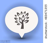 pictograph of tree | Shutterstock .eps vector #483471355