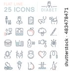 set vector line icons in flat... | Shutterstock .eps vector #483478471