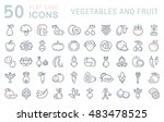 set vector line icons in flat... | Shutterstock .eps vector #483478525