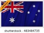 national flag of australia  ...   Shutterstock .eps vector #483484735