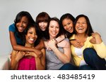 diverse group of mothers and... | Shutterstock . vector #483485419