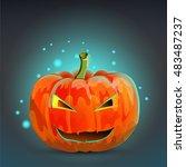 pumpkin  halloween | Shutterstock .eps vector #483487237