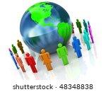 abstract 3d illustration of... | Shutterstock . vector #48348838