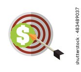 target with arrow and money... | Shutterstock .eps vector #483489037