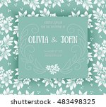 wedding invitation card. vector ... | Shutterstock .eps vector #483498325