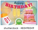 may 1. greeting card with happy ... | Shutterstock .eps vector #483498349