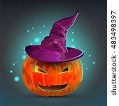 pumpkin halloween  | Shutterstock .eps vector #483498397