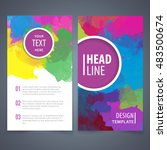 brochure template layout  cover ... | Shutterstock .eps vector #483500674