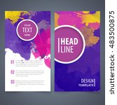 brochure template layout  cover ... | Shutterstock .eps vector #483500875