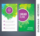 brochure template layout  cover ... | Shutterstock .eps vector #483500881