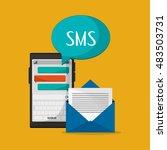 mobile phone messaging image  | Shutterstock .eps vector #483503731