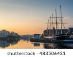 Small photo of Bristol Waterfront, England, UK with Brunel's SS Great Britain