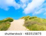 Path To Beach Among Sand Dunes...