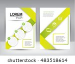 brochure cover design  | Shutterstock .eps vector #483518614