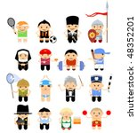 set of cartoon characters.... | Shutterstock .eps vector #48352201