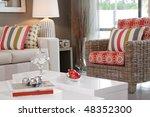 living room in new modern... | Shutterstock . vector #48352300