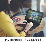 study education e learning... | Shutterstock . vector #483527665