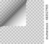 paper angle. vector illustration | Shutterstock .eps vector #483527905