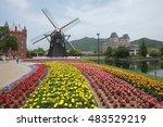 japan fukuoka  huis ten bosch...   Shutterstock . vector #483529219
