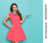smiling beautiful young woman... | Shutterstock . vector #483530695