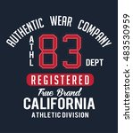athletic sport typography  t... | Shutterstock .eps vector #483530959