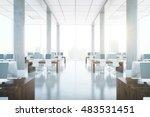 modern coworking office... | Shutterstock . vector #483531451