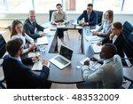 meeting of shareholders   Shutterstock . vector #483532009