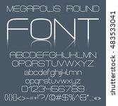 trendy modern elegant font... | Shutterstock .eps vector #483533041
