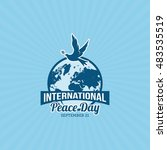 international day of peace... | Shutterstock .eps vector #483535519