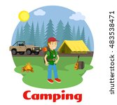 camping and outdoor recreation... | Shutterstock .eps vector #483538471