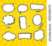 comic   speech bubbles and... | Shutterstock .eps vector #483538474