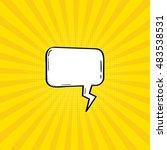 comic   speech bubbles and... | Shutterstock .eps vector #483538531
