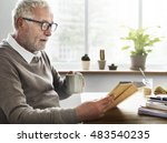 reading relaxation pension... | Shutterstock . vector #483540235