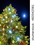 Small photo of Christmas tree and Moon in Strasbourg - Alsace, France