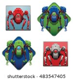 vector set of frames with funny ... | Shutterstock .eps vector #483547405