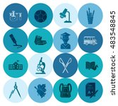 school and education icon set.... | Shutterstock .eps vector #483548845