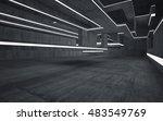 Empty Dark Abstract Concrete...