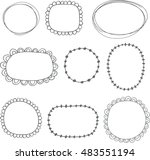 collection of sketched frames   ... | Shutterstock .eps vector #483551194