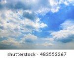 soft focus of a clouded blue sky | Shutterstock . vector #483553267