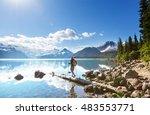 hike on garibaldi lake near... | Shutterstock . vector #483553771