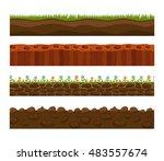 illustration of cross section...   Shutterstock .eps vector #483557674