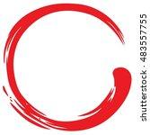red zen circle minimalistic... | Shutterstock .eps vector #483557755