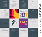 simple calendar 2017 with... | Shutterstock .eps vector #483558064